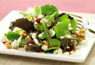 Cranberry and Feta Salad with Dijon Vinaigrette