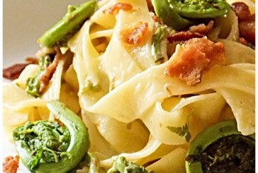 Chef House's Fiddlehead and Fettuccine Carbonara