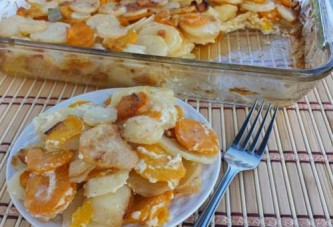 Scalloped Potatoes with Carrots