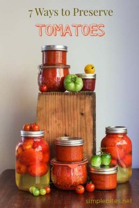 Natural Ways To Preserve Tomatoes