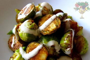 Tahini Drizzled Roasted Brussels Sprouts Recipe